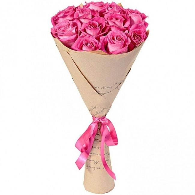 Букет из розовых роз «Очаровательный»