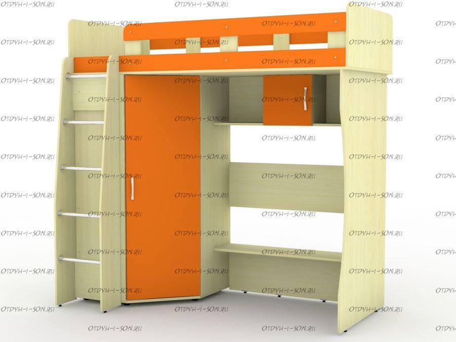 Кровать-чердак Карлсон М1 (14.710) без столешницы и без тумбочки