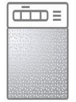 Наклейка на посудомоечную машину - Серебряный дождь