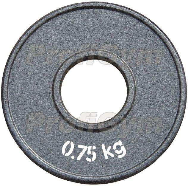 Диск стальной «Powerlifting» с полимерным покрытием, 0,75 кг