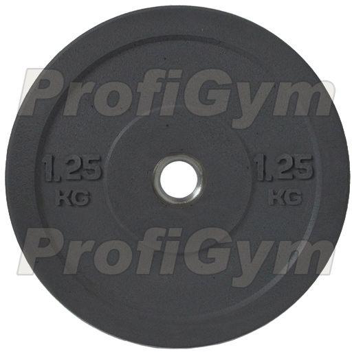 Диск для кроссфита (бампер) черный 1,25 кг