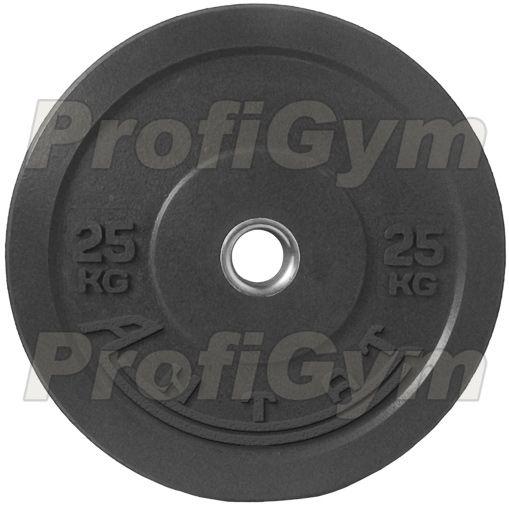 Диск для кроссфита (бампер) черный 25 кг
