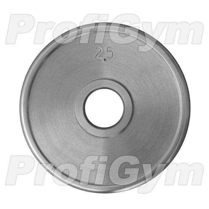 Диск хромированный «ProfiGym» 2,5 кг посадочный диаметр 26 мм
