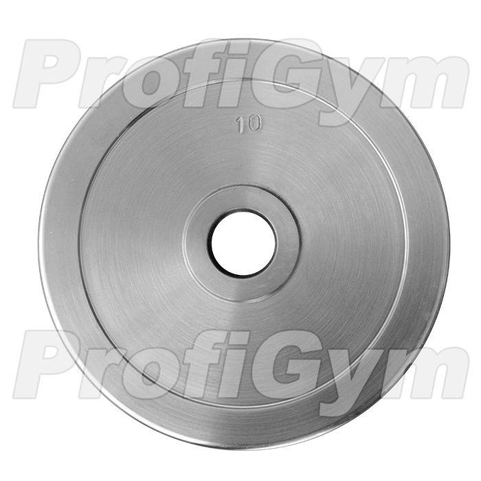 Диск хромированный «ProfiGym» 10 кг посадочный диаметр 31 мм