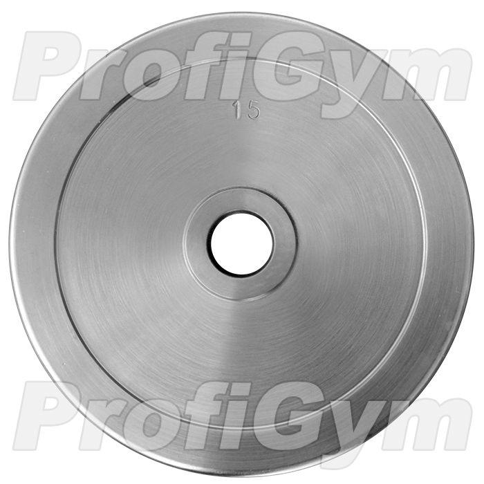 Диск хромированный «ProfiGym» 15 кг посадочный диаметр 31 мм