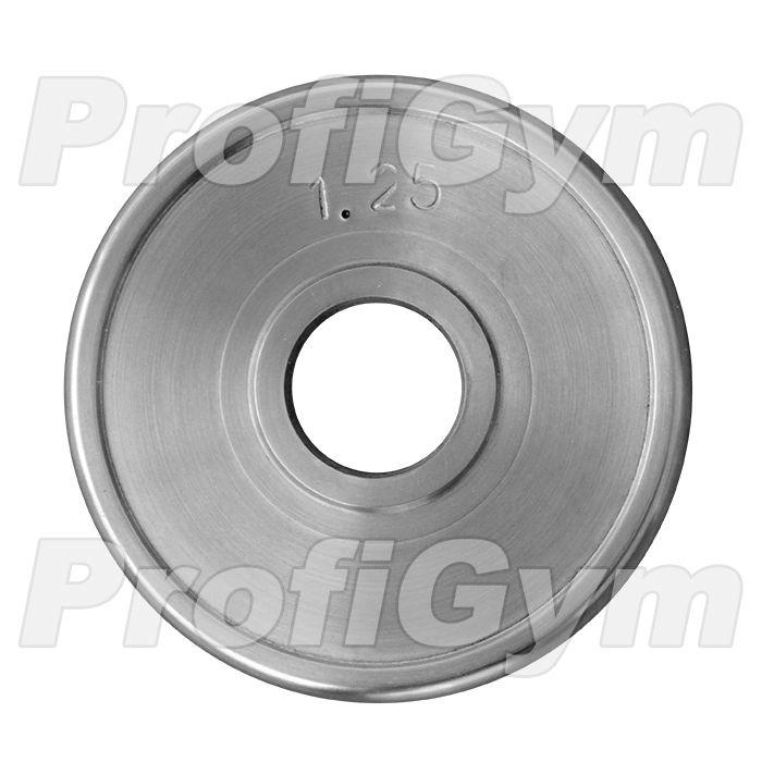 Диск хромированный «ProfiGym» 1,25 кг посадочный диаметр 51 мм