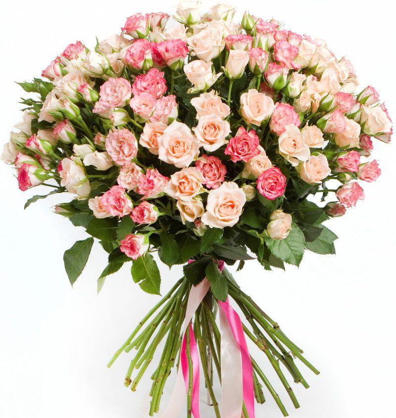 Букет из кустовых роз  «Дыхание нежности»