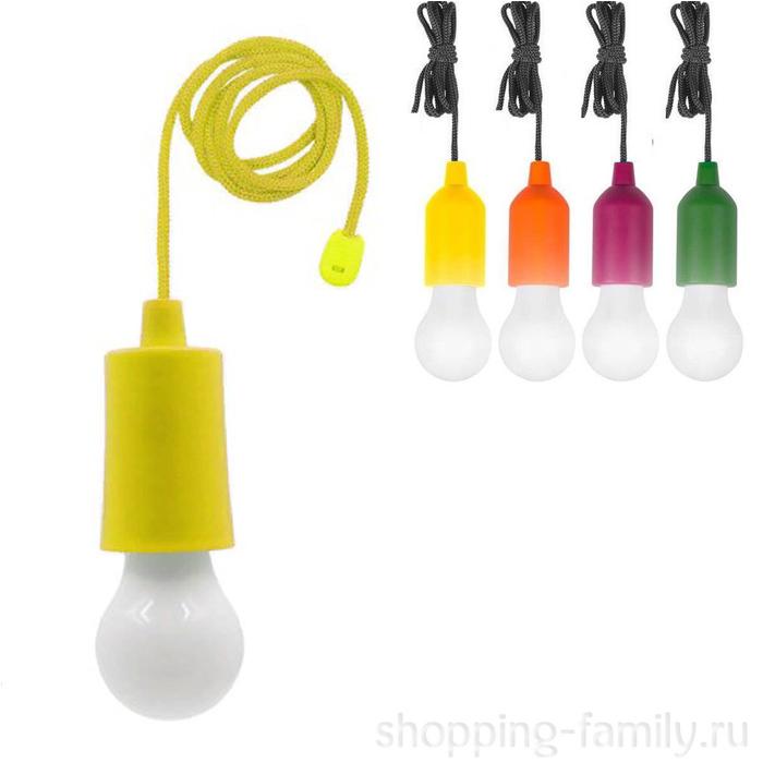 Светодиодная лампочка на шнурке Led Stretch Switch Light, Цвет Жёлтый