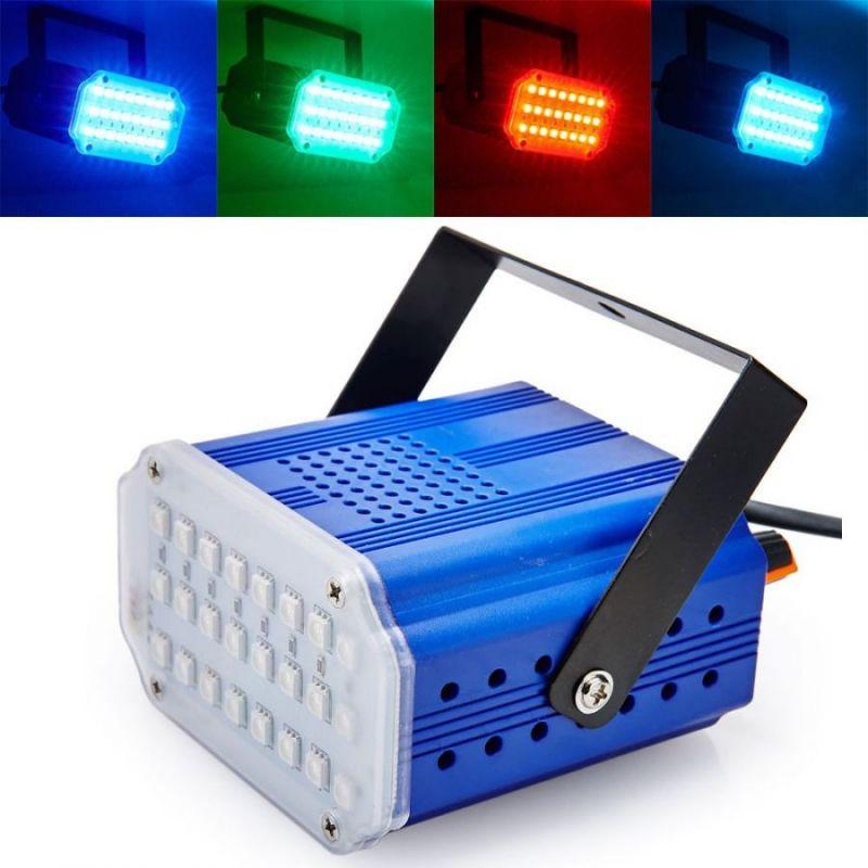 Комнатный Мини-Стробоскоп Mini Room Strobe 24 LED, Цвет Синий