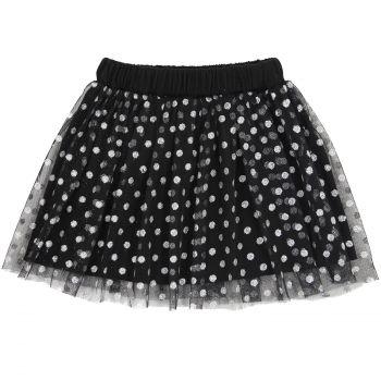 Фатиновая юбка для девочек 2-5 лет Bonito черная в горошек