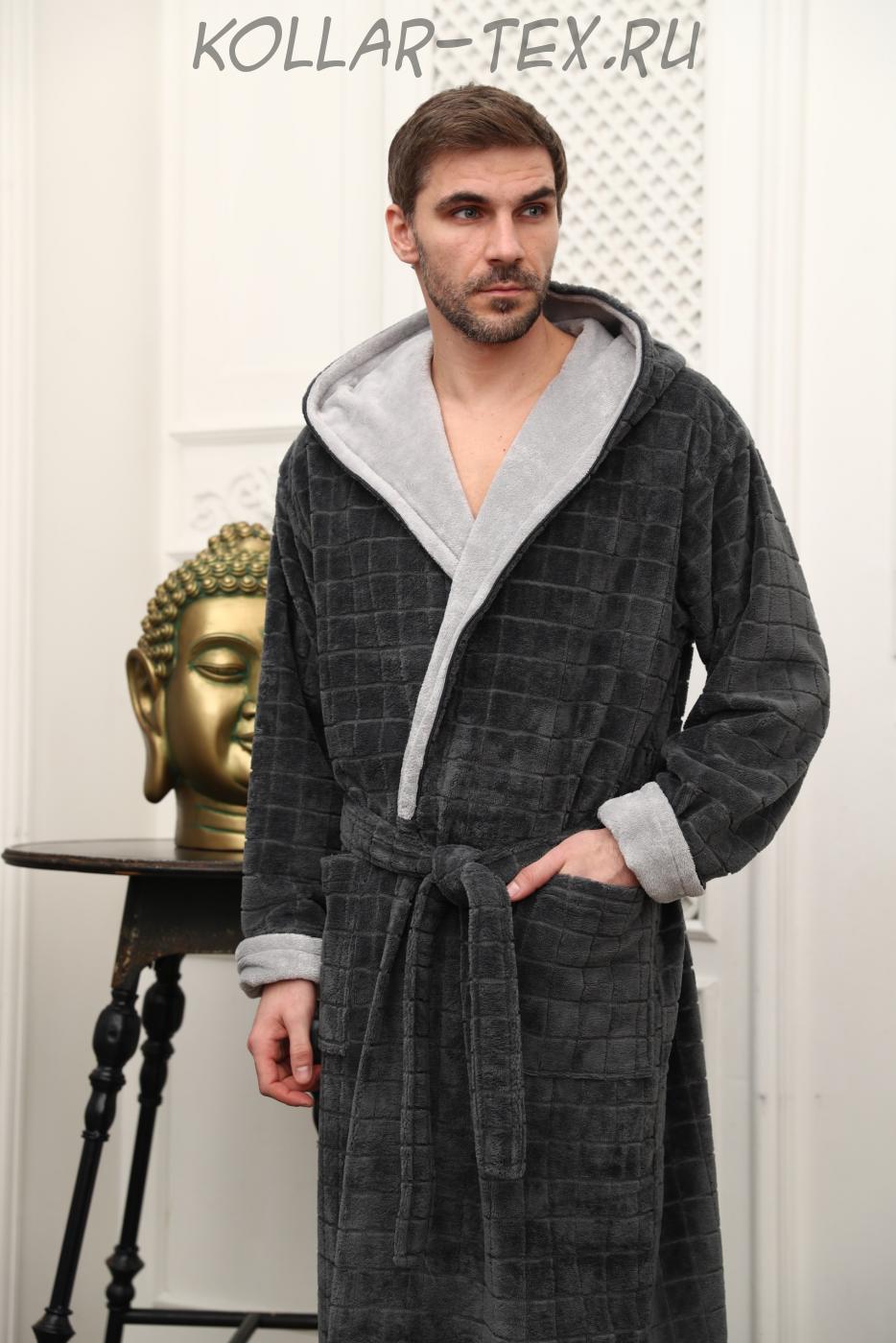Бамбуковый мужской халат Порто, Five Wien
