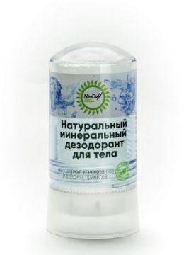 Натуральный кристаллический дезодорант для тела чистый, 60 гр.