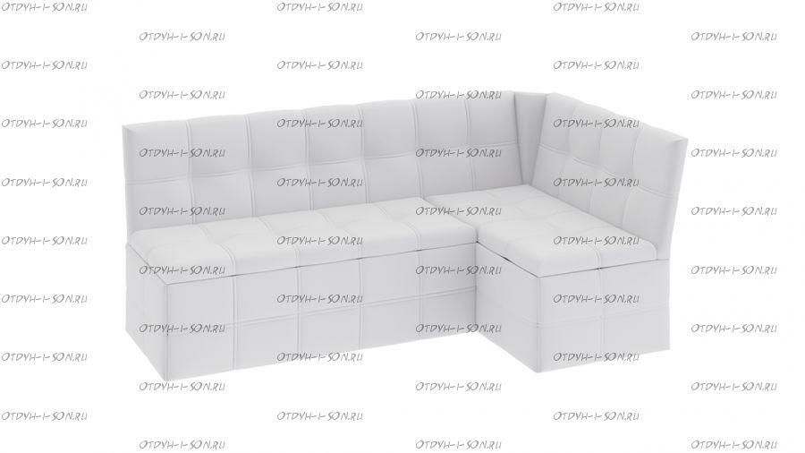 Скамья угловая со спальным местом кожзам белый Домино