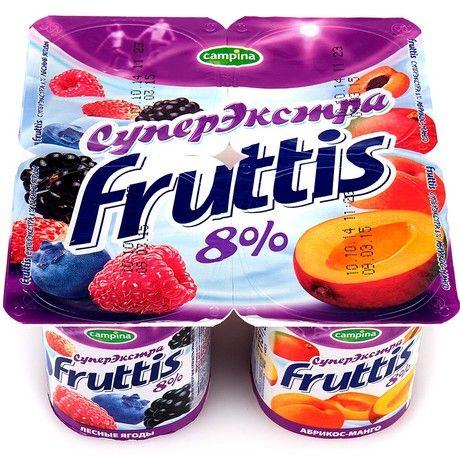 Продукт йогуртный Фруттис 8% абр/манго/лес.ягоды 115г ООО Кампина