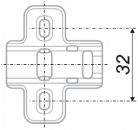 Мебельная петля для накладной двери H302A02/2410
