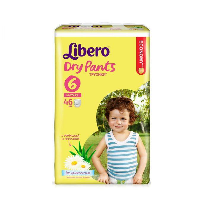 Подгузники-трусики Libero Dry Pants XL 6*46шт 13-20кг
