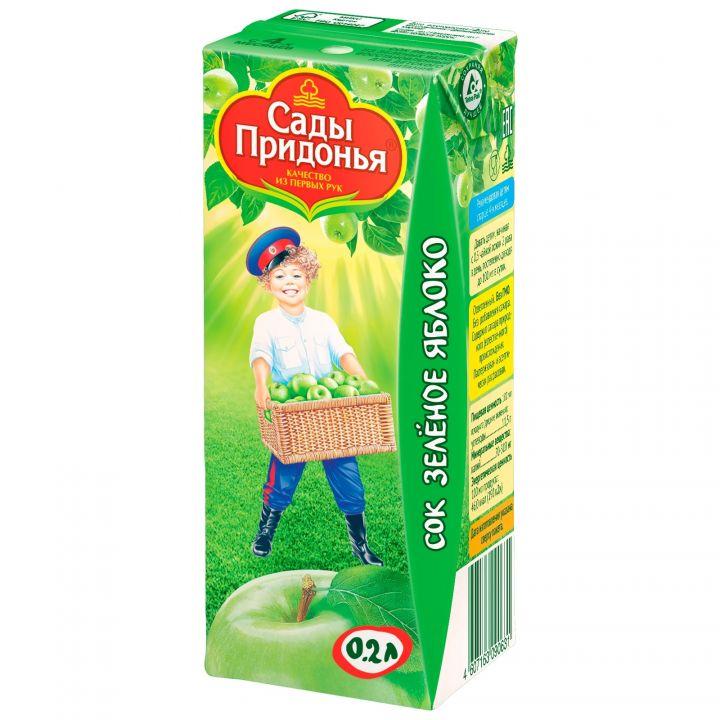 Сок Сады придонья 0,2л яблоко зеленое