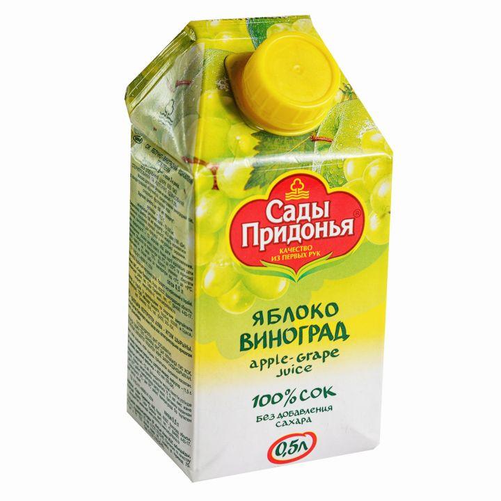 Сок Сады придонья 0,5л яблоко/виноград