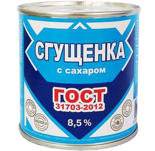Консервы мол-сод с ЗМЖ сгущ с сах 8,5% 360г ж/б ГОСТ Филимоново