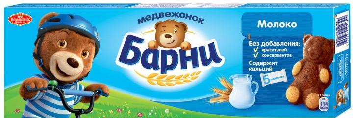 Пирожное Медвежонок Барни бисквит/молоко 150г