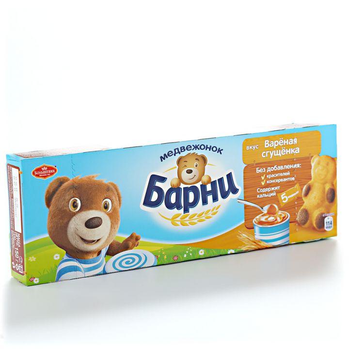 Пирожное Медвежонок Барни бисквит/сгущ. молоко 150г