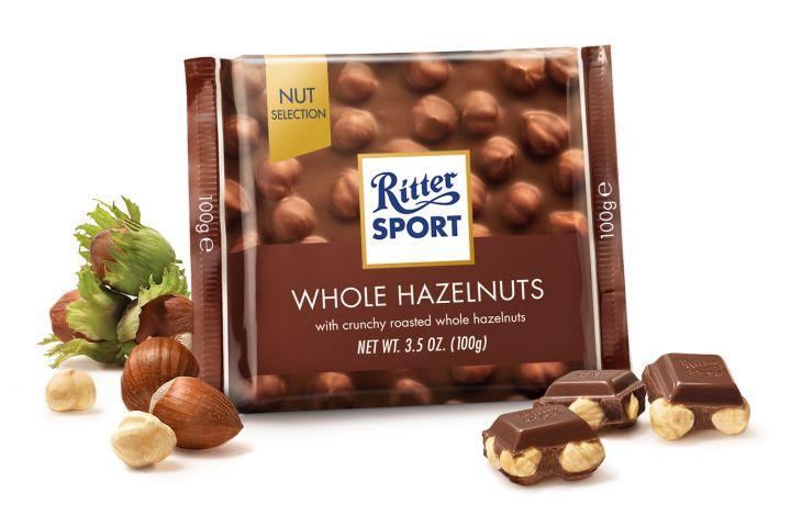 Шоколад Ritter sport Экстра Нат молочный с цельным лесным орехом 100г