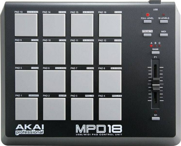 AKAI PRO MPD18 компактный USB/MIDI-контроллер