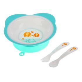 Набор посуды «Слоники», 3 предмета