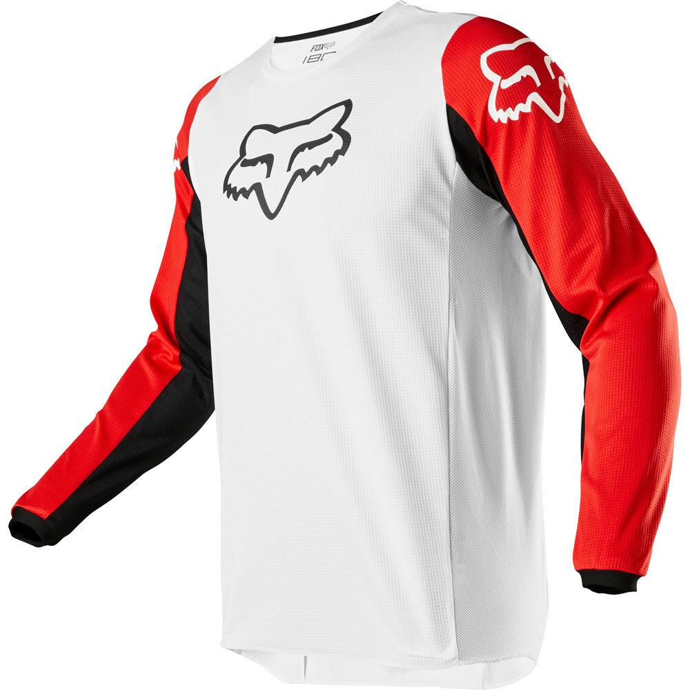 Fox - 2020 180 Prix White/Black/Red джерси, черно-бело-красное