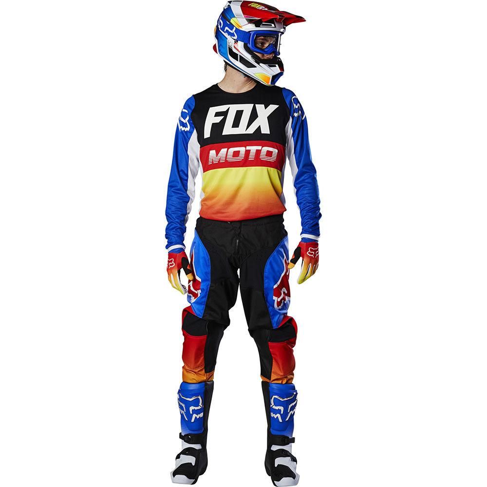 Fox - 2020 180 Fyce Blue/Red комплект джерси и штаны, сине-красный