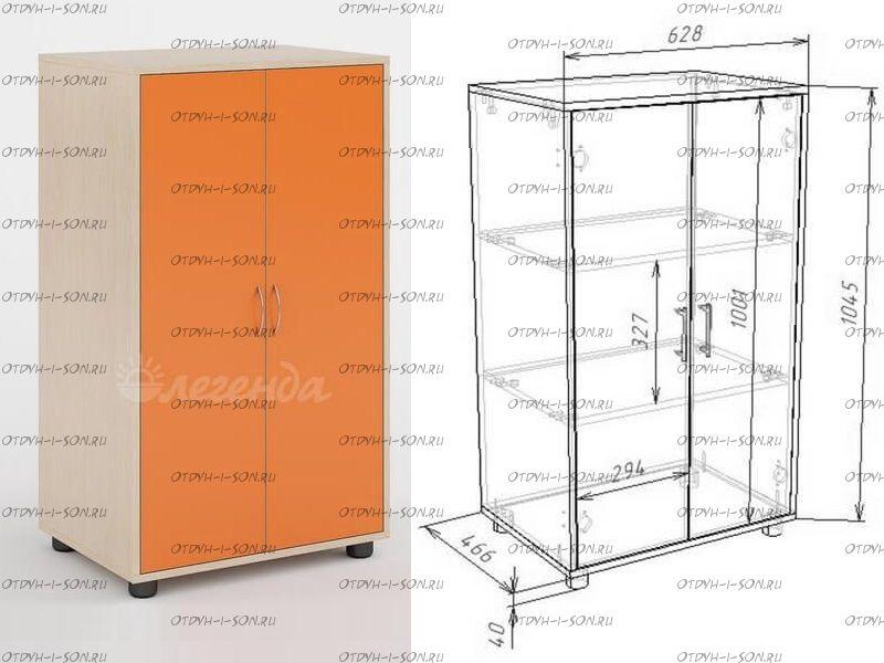 Шкаф двухдверный Легенда Л-04 (63х45х105)