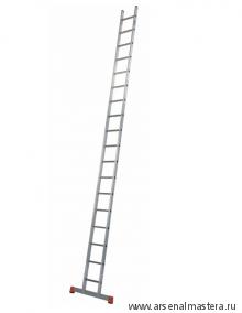 Лестница приставная односекционная алюминиевая SIBILO KRAUSE MONTO 18 перекладин 129154