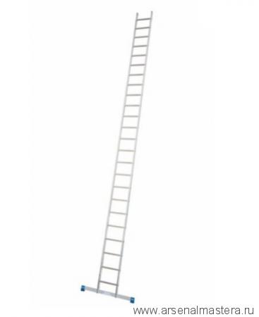 Лестница приставная односекционная алюминиевая с перекладинами KRAUSE STABILO 24 перекладин 133199/127143