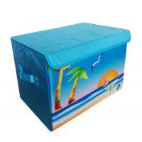 Складной короб с рисунком, 37х26х27 см, Рисунок Пляж