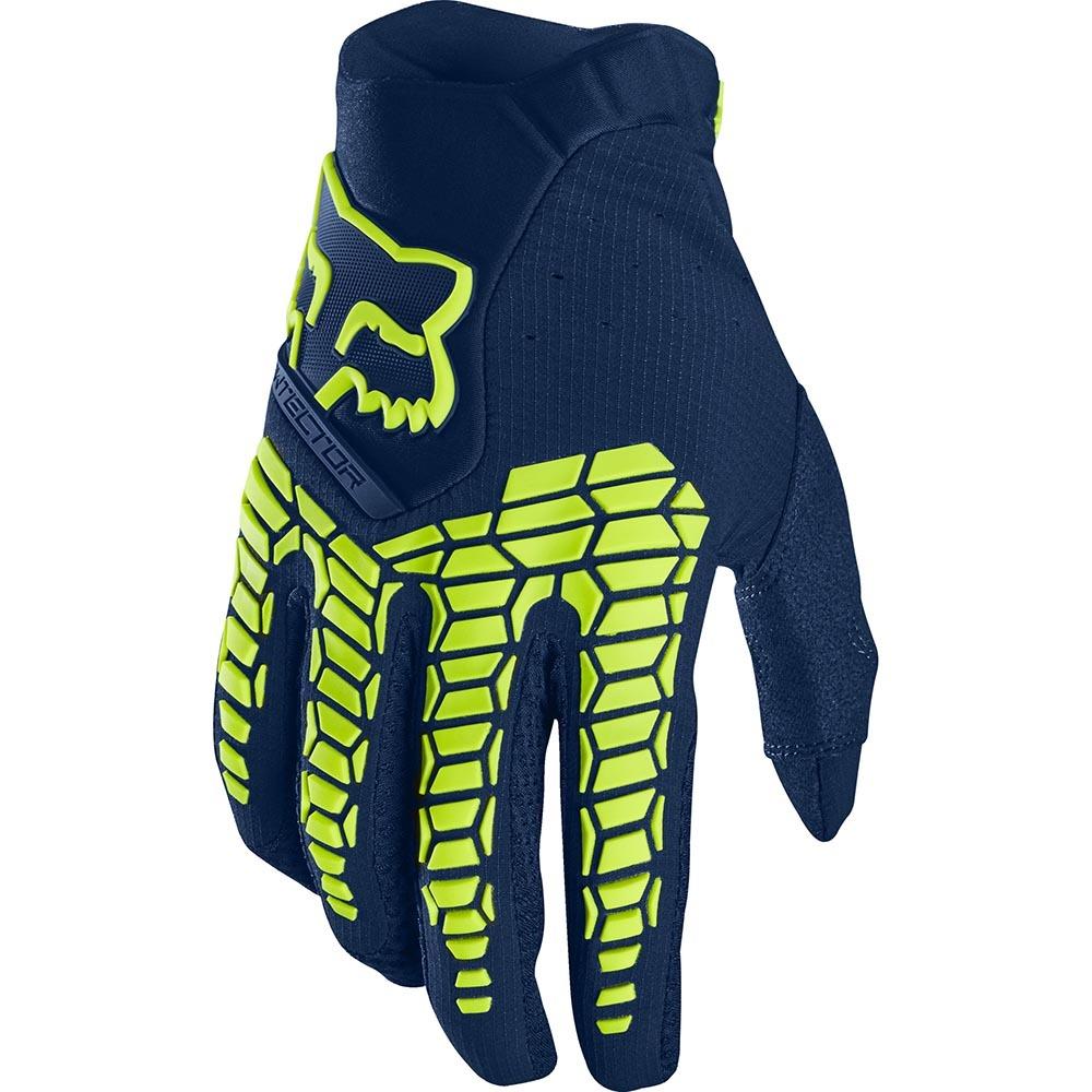 Fox - 2020 Pawtector Navy перчатки, сине-желтые