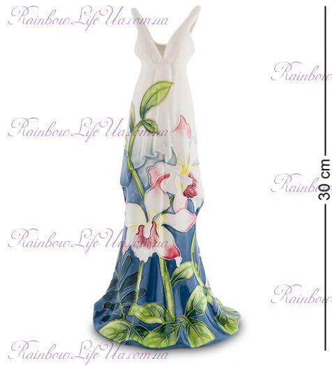 """Ваза дамское платье Цветочное """"Pavone"""""""