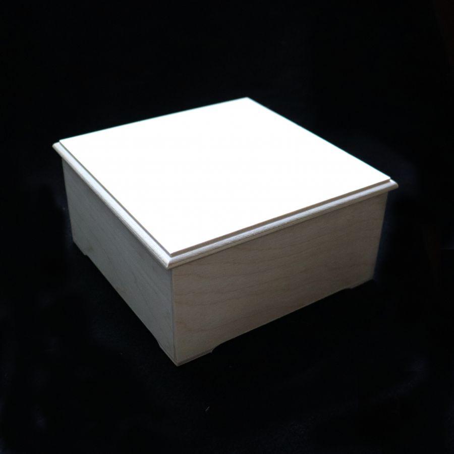 Шкатулка квадратная со съемной крышкой, 16*16*7 см