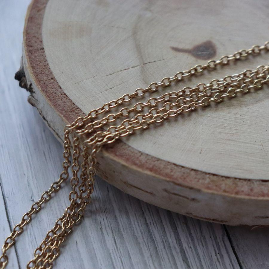 Цепочка 0014, размер 3*2 мм, цвет золото, 1 м/упак