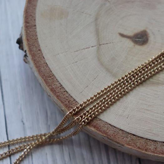Цепочка ZY-CH10, размер 2*2 мм, цвет золото, 1 м/упак