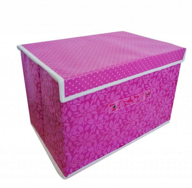 Складной Короб Для Хранения Вещей, 36х24х24 См, Цвет Тёмно-Розовый