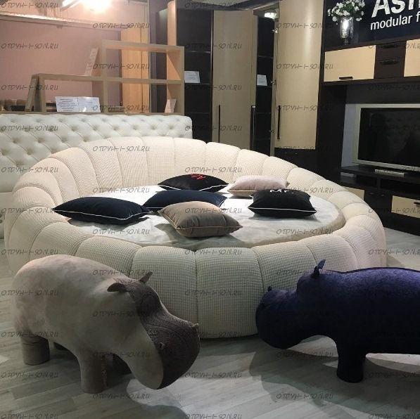Кровать круглая Berta Амстердам 1011 (б/о)