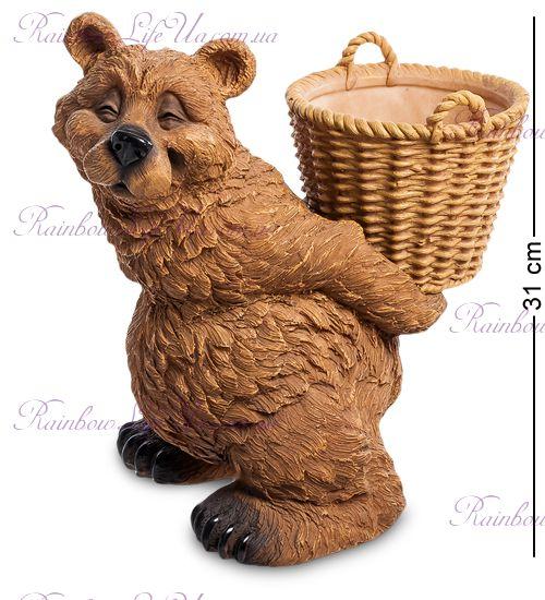 """Кашпо Медведь с корзиной """"Sealmark"""""""