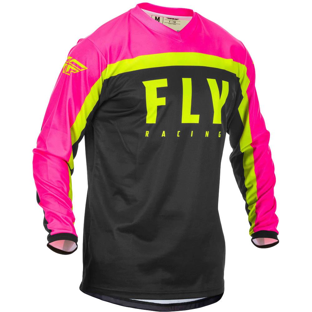 Fly - 2020 F-16 Neon Pink/Black/Hi-Viz джерси, розово-черно-желтое