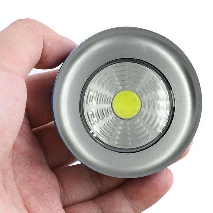 Светодиодный Мини-Светильник На Липучке Stick Touch Lamp, Цвет Серебристый