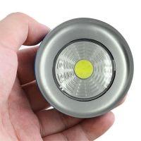 Светодиодный мини-светильник на липучке Stick Touch Lamp, цвет серебристый (1)