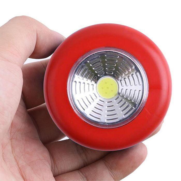 Светодиодный мини-светильник на липучке Stick Touch Lamp, цвет красный