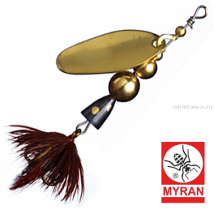 Блесна вертушка Myran Mira 10гр / цвет: Guld 6474-02