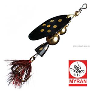 Блесна вертушка Myran Mira 10гр / цвет: Svart 6474-09