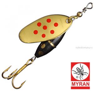 Блесна вертушка Myran Panter Prick 10гр / цвет: Guld Rod 6483-28