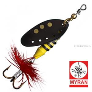 Блесна вертушка Myran Sting 7гр / цвет: Svart 6511-09